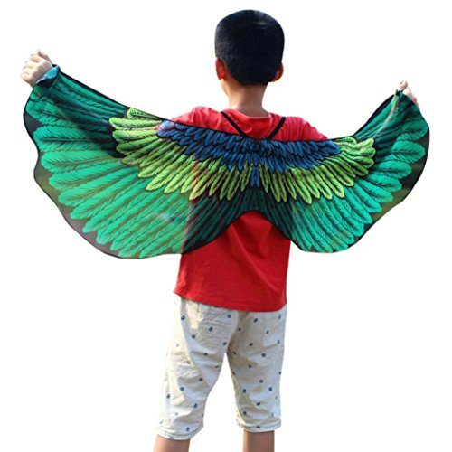 2017 Halloween Party Child Kids Boys Girls Bohemian Butterfly Print Shawl Cape Scarf Fairy Poncho Wrap Costume Accessory (118X48CM, B2)]()