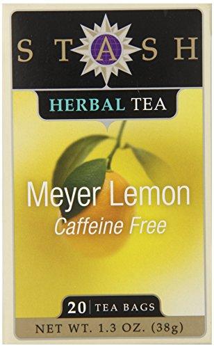 Stash Tea Meyer Lemon Herbal Tea 20 Count (Tea Meyer Lemon Stash)