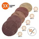Wellmax 50 pcs Sand Paper disc | Gold 5-Inch