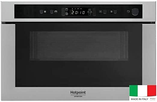 Opinión sobre HOTPOINT MH 400 IX - Micro-ondes combiné encastrable inox anti-trace - 22L - 750 W - Grill 700 W