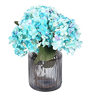 Sumn Boutique Artificial Hydrangea Flowers Bulk with Stems, Silk Hydrangea Flowers Heads Leaves, Artificial Flower Bouquets for Wedding Bouquets Centerpieces Arrangements Party Home Decor, Pack of 3 19