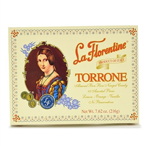 Almond Candy Nougat - La Florentine Torrone 18 pc Assortment Box, Pack of 2