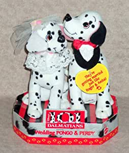 Disney ~ 101 Dalmatians ~ Wedding PONGO & PERDY ~ Plush Set ~ 1996