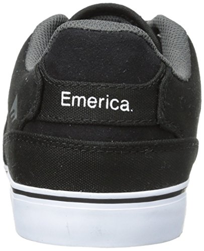 Emerica il Reynolds basso Vulc scarpe bianco e nero grigio UK 6