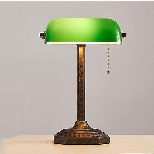 Antigua lámpara de mesa, lámpara de mesa retro Bank, accesorios de ...