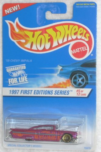 Amazon mattel hot wheels 1997 first editions 164 scale 59 mattel hot wheels 1997 first editions 164 scale 59 chevy impala die cast car publicscrutiny Choice Image