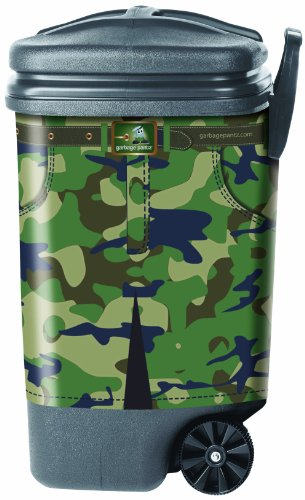 Garbage Pantz GP-CAMO Outdoor Trash Can Cover, Camouflage (Gp Furniture Patio)