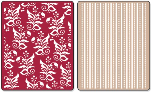 Sizzix Textured Impressions Embossing Folders 2PK - Botanicals & Beaded Ribbons Set by Rachael Bright