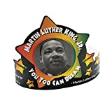 Fun Express - Martin Luther King Crowns - Apparel Accessories - Hats - Tiaras & Crowns - 12 Pieces
