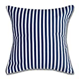 Style Homez Cotton Canvas Stripes Printed Cushion XL Size Set of 2 Cover Only
