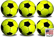 GBM Golf Yellow Soccer Golf Balls 6 Pack by