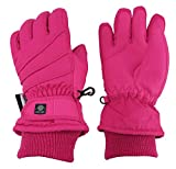N'Ice Caps Kids Bulky Thinsulate Waterproof Winter Snow Ski Glove With Ridges (Fuchsia 1, 4-5yrs)