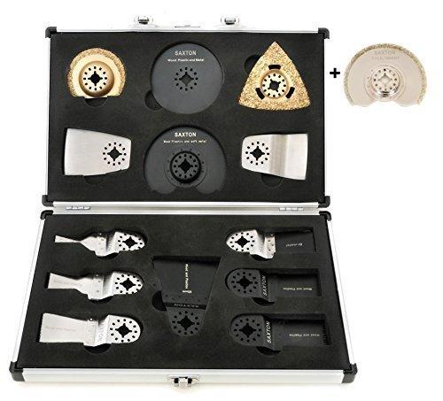 Saxton Kit de 14 lames pour outils multifonctions Fein Multimaster Bosch Makita (inclut un diamant de 90 mm) Saxton Trading