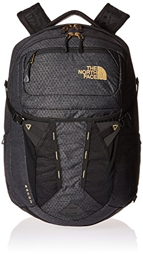 The North Face Womens Recon Backpack TNF Black 24K Gold One Size by The  North be3e0b053886