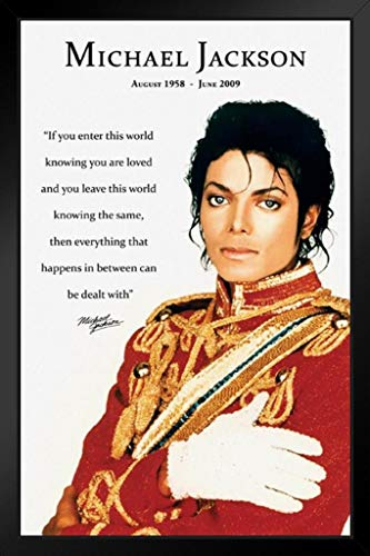 Pyramid America Michael Jackson Loved Quote Music Framed Poster 14x20 inch