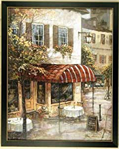 Amazon Com Red Cafe French Italian Paris Framed Print
