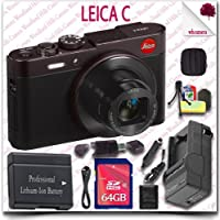 Leica C CMOS WiFi NFC Digital Camera (Red 18489) + 64GB SDXC Class 10 Card + HDMI Cable + Soft Camera Case + 12pc Leica Saver Bundle [Electronics]
