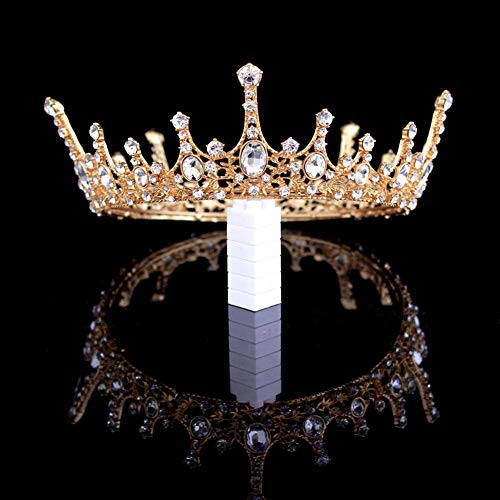 Crystal Crown Vintage Queen Princess Tiara Bridal Rhinestone Crown Dress-up Wedding Prom Pageant Pearl Crown Hair Accessories for Women and Girls -