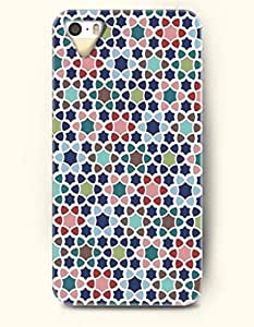 Phone Case For iPhone 5 5S Colorful Cute Stars Hexagon And Flower Triangles Bow Tie - Hard Back Plastic Case /...