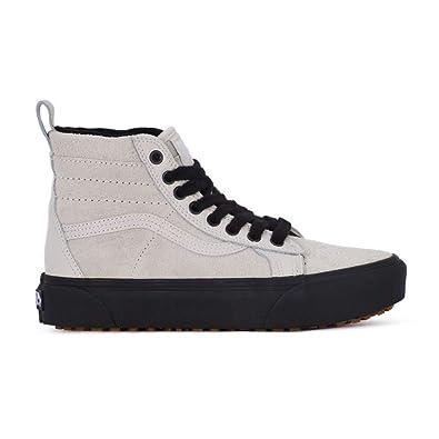 Amazon.com | Vans SK8 Hi Platform MTE Moonbeam/Black Women's Skate ...