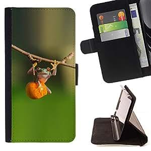 Momo Phone Case / Flip Funda de Cuero Case Cover - Animal lindo de la aptitud Bosque Verde - LG G4