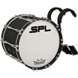 Sound Percussion Labs Birch Marching Bass Drum with Carrier 20 x 14 Black