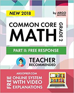 Argo Brothers Math Workbook Grade 2 Common Core Free Response 2nd