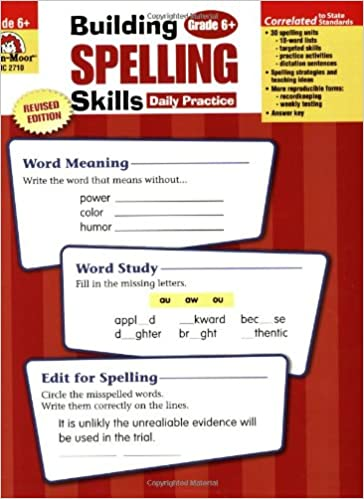 Amazon building spelling skills grade 6 9781557998446 amazon building spelling skills grade 6 9781557998446 evan moor books fandeluxe Choice Image