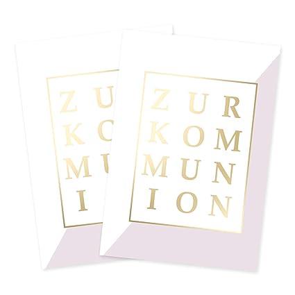 Juego de 2 tarjetas de felicitación para comunión.: Amazon ...