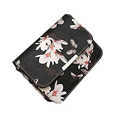 Liraly Women Bags,Clearance Sale! Women Floral Leather Shoulder Bag Satchel Handbag Retro Messenger Bag