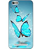 Snazzy Butterfly Printed Blue Hard Back Cover For Lenovo Vibe C A2020