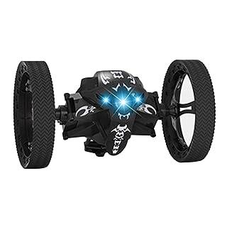 PerGrate - Aquilone con Drago, 2,4 G, radiocomandato, con luci notturne a LED Nero