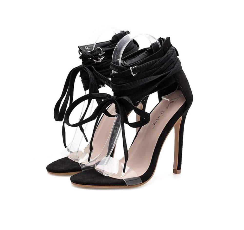 Mamrar 11cm Stiletto Cross Straps High Heel Sandalen Party Party Party Dress Schuhe Frauen Sexy Hollow Transparent Rivets OL Hofschuhe Eu Größe 34-40 7caab7