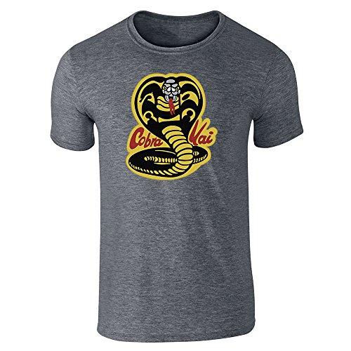 Cobra Kai Karate Dojo Halloween Costume Vintage Retro 80s Apparel Movie Dark Heather Gray L Short Sleeve T-Shirt -