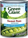 Green Giant Sweet Peas - 50% Less Sodium 15 oz. (Pack of 3)