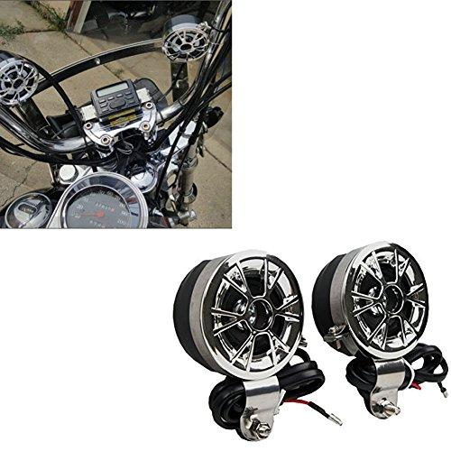 XMT-MOTO Motorcycle Sound System Handlebar Mount 2 Speakers FM Radio Audio MP3 Stereo 12V