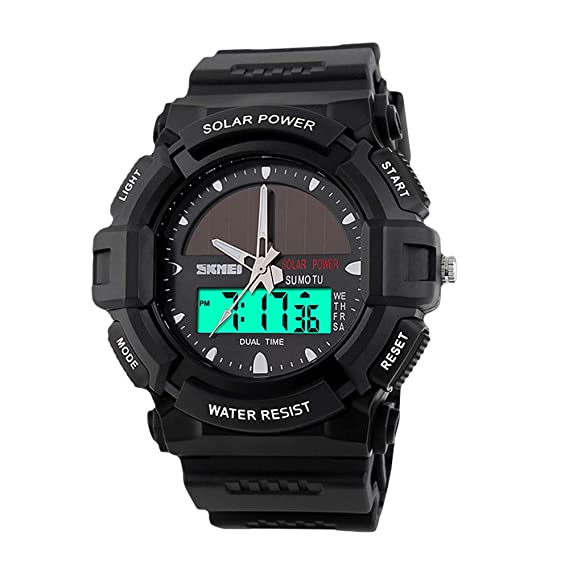Watches Charitable New Skmei Brand Watch Solar Energy Men Electronic Sports Watches Multifunctional Outdoor Water Resistant Digital Wristwatches