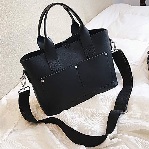 versione selvaggio della borsa Borsa WSLMHH nero borsa tracolla tracolla moda femminile marea Messenger nero temperamento semplice coreana a a qOtqF0n