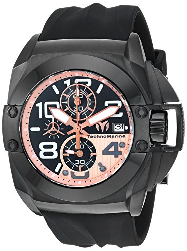 (Technomarine Men's TM-515014 Black Reef Analog Display Quartz Black Watch)