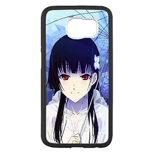 Sankarea Niña Morena Umbrella Rain 40822 Samsung Galaxy S6 caja del teléfono celular funda Negro caja del teléfono celular Funda Cubierta EEECBCAAL78860