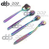 DDP Set of 4 Wartenberg Neurological Pin Wheel Pinwheel 1, 2, 3, 7 Head Diagnostic Multi Color Rainbow