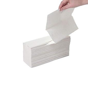 Leonardo HTL003 - Pack de 2250 toallas de papel plegadas en Z, 2 ...