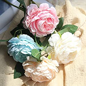 Artificial Roses Flowers Plants Greenery for Birthday Gift Home Coffee House Bridal Bouquet Wedding Flower Decor 115