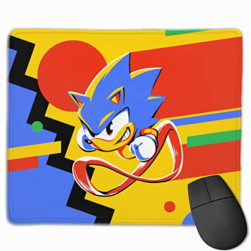 So-nic Ma-nia Gaming Mouse Pad Inspirational Computer Mousepad Non-Slip Rubber Mouse Mat for Home Office