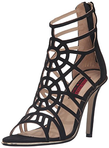 Luichiny Women's Ask A Girl Dress Sandal, Black, 8 M US -