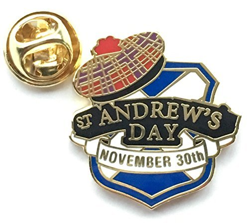 Écosse St Andrews Day Novembre 30th Croix De Saint André& Tammy Badge Épinglette En Émail