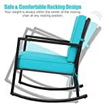 Tangkula Wicker Rocking Chair, Outdoor Glider