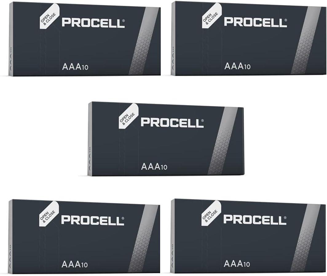 Procell - Pila alcalina Paquete de 50 piezas. Tamaño AAA