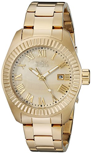 Invicta Coin Edge Bezel - Invicta Women's 20316SYB Angel 18k Gold-Plated Stainless Steel Watch