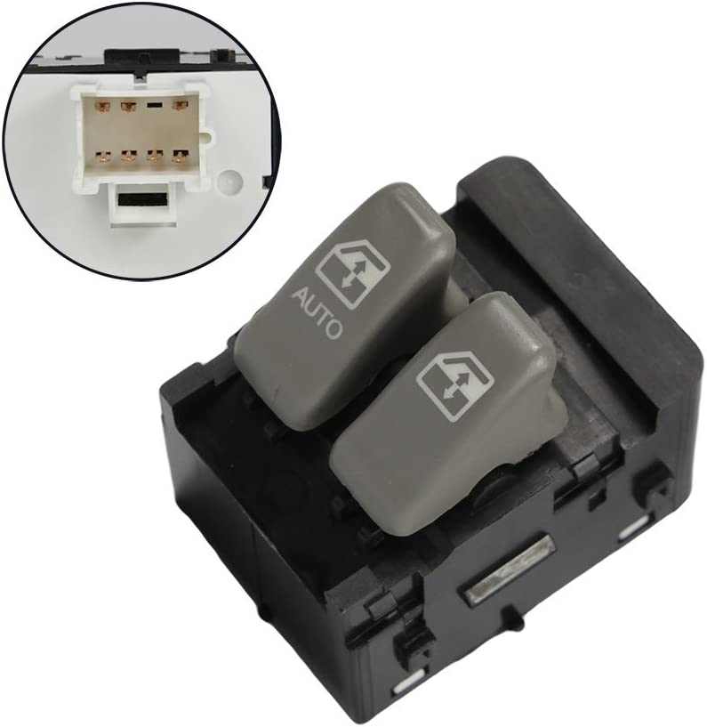 uxcell Front Left Driver Side Power Window Switch 10387305 for Venture Montana Chevrolet Pontiac